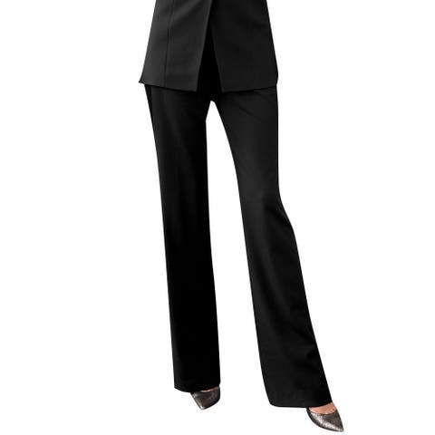 Affinity Apparel Women's Flat-front Pants