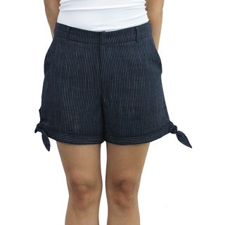 Relished Women's Striped Side Bow Shorts
