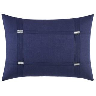Vera Wang Chevron Blue Cotton Blend Breakfast Pillow