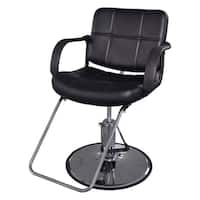 BarberPub Classic Hydraulic Black Hair Salon Chair