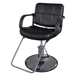 BarberPub Classic Hydraulic Black Hair Salon Chair  sc 1 st  Overstock.com & Shop BarberPub Hydraulic Black Hair Salon Chair - Free Shipping ...