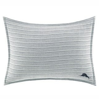 Tommy Bahama Raw Coast Blue and White Cotton Breakfast Pillow