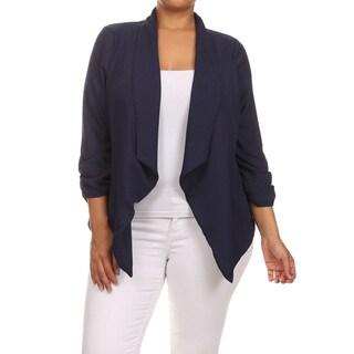 Women's Plus-size Solid Cardigan