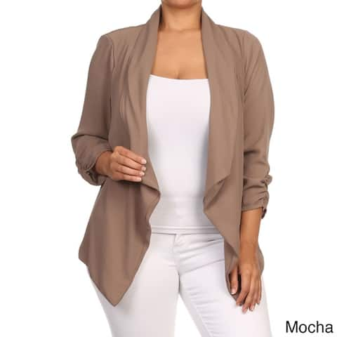 Women's Plus-size Solid Cardigan