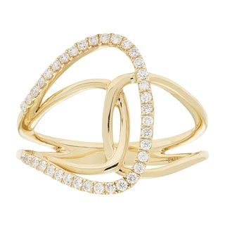 10k Gold 1/4ct TDW Diamond Ring (H-I, I1-I2)