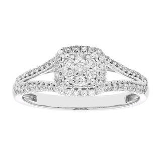 10k Gold 1/3ct TDW Split Shank Diamond Engagement Ring