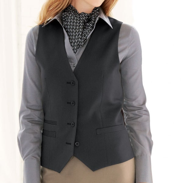 Affinity Apparel Ladies' Traditional 4-button Vest. Opens flyout.