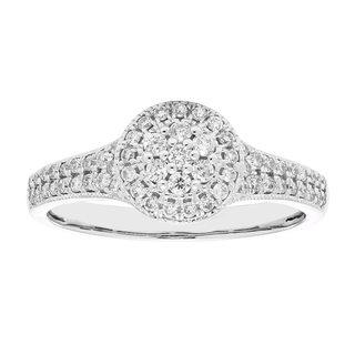 10k Gold 1/3ct TDW Composite Diamond Engagement Ring (H-I, I1-I2)