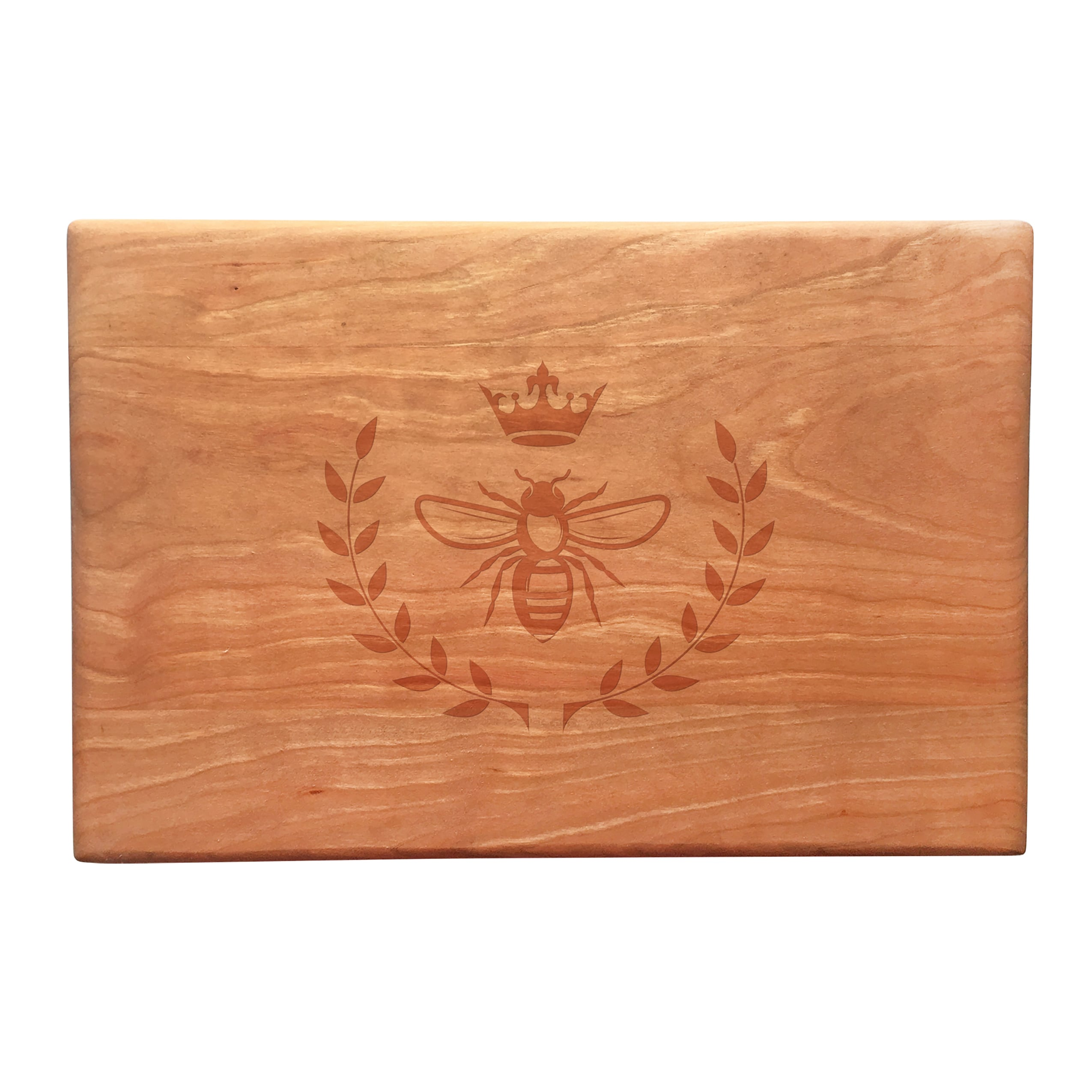 Susquehanna Glass Vintage Bee Artisan Cherry Board, Brown...
