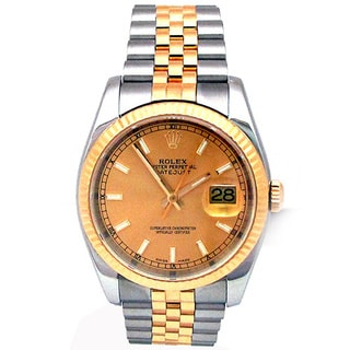 Pre-owned 36mm 18k Yellow Gold and Stainless steel Rolex Datejust Watch