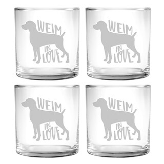 Weim In Love Slim Rocks Glass (Set of 4)