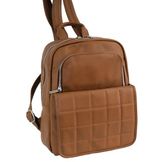 Piel Leather Quilted Leather Backpack