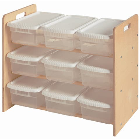 Little Colorado Plywood Nine-bin Toy Organizer