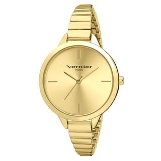 Vernier Paris Gold-tone Stainless Steel Skinny Bracelet Watch