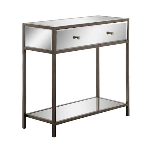 Silver Orchid Benedict Contemporary Entryway Console Table