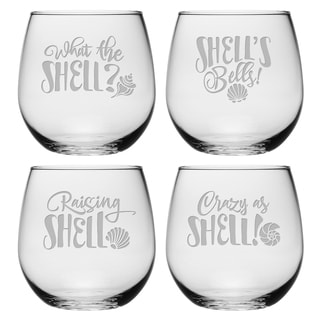 What the Shell Assortment Stemless Wine (Set of 4)
