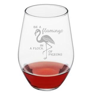 Be a Flamingo Stemless Wine (Set of 4)