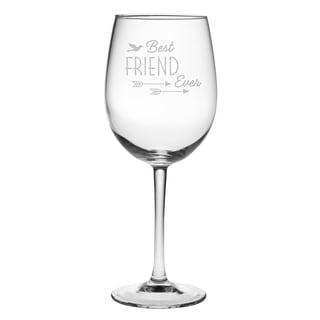 Best Friend Ever Wine Glass (Set of 4)