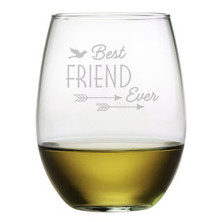 Best Friend Ever Stemless Wine (Set of 4)