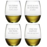 Uncorked Assortment Stemless Wine (Set of 4)