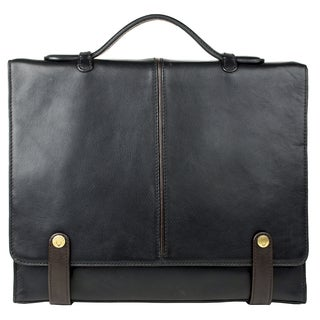 Hidesign Eton Medium Leather Messenger Briefcase