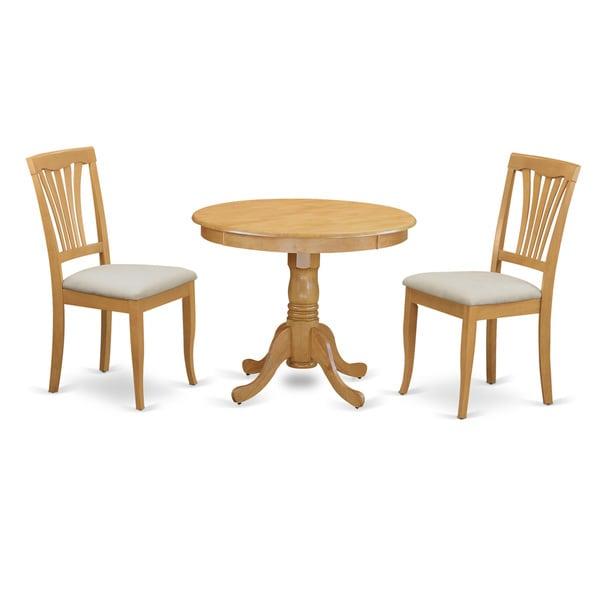ANAV3 OAK C 3 Piece Dining Room Table Set