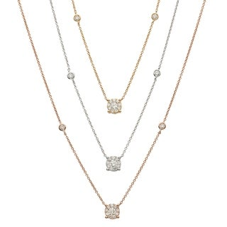 Kabella 18K Gold 1/5ct TDW Diamonds Necklace (G-H, SI2)