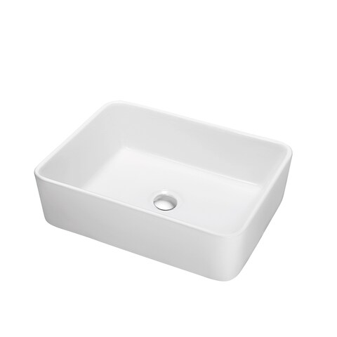 Dawn Art Ceramic Above-counter Rectangle Basin Vessel Bathroom Sink