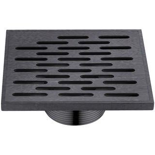 "Dawn Yangtze River Series - Square Shower Drain 5""L Dark Brown Finished (Threaded)"