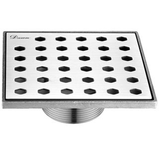 "Dawn® Thames River Series - Square Shower Drain 5""L (Threaded)"
