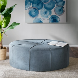 Madison Park Aberdeen Oval Ottoman 2-color Option