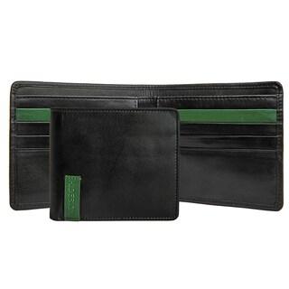 Hidesign Dylan 04 Mens' Black Leather Slim Bifold Wallet