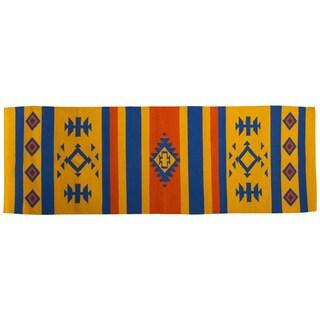 Southwestern Treasure Hand Woven Yoga Cutsuttle Mat (India)