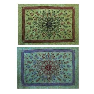 'Om' Lotus Festival Stonewashed Tapestry (Nepal)