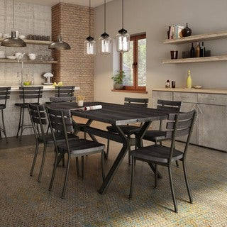Carbon Loft Montgolfier Gunmetal Chairs and Table Dining Set (2 options available)