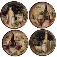 Certified International Gilded Wine Assorted Ceramic 9-inch Salad/Dessert Plates (Pack of 4)