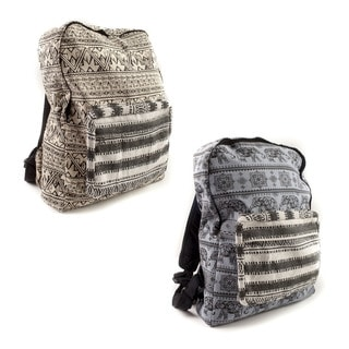 Handmade Tribal Print Boho Backpack (Nepal)