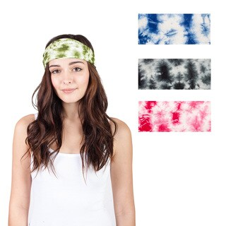 Handmade Women's Tie Dye Cotton Active Yoga Headband (Nepal)