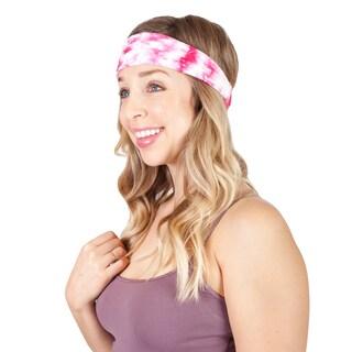 Handmade Women's Tie Dye Cotton Active Yoga Headband (Nepal) (Option: Pink)
