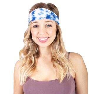 Handmade Women's Tie Dye Cotton Active Yoga Headband (Nepal) (Option: Blue)