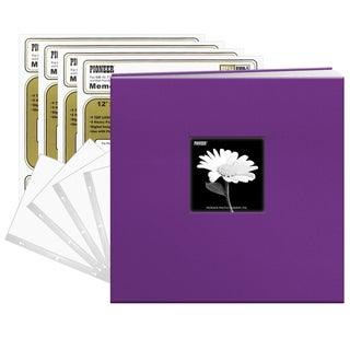 "Pioneer Grape Fabric Frame 12"" x 12"" 40-pg. (20-sheet) Scrapbook"