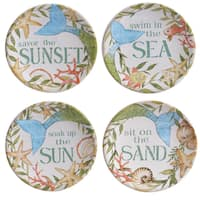 Certified International Sea Beauty Assorted 6-inch Canape Plates (Set of 4)