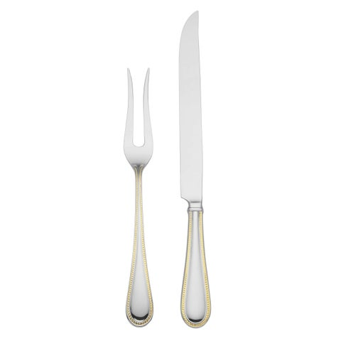 Reed Barton Lyndon Stainless Steel 2-piece Carving Set with Goldtone Trim