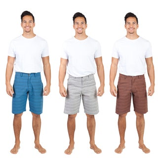 Handmade Men's Tribal 'Om' Cotton Shorts (Nepal)