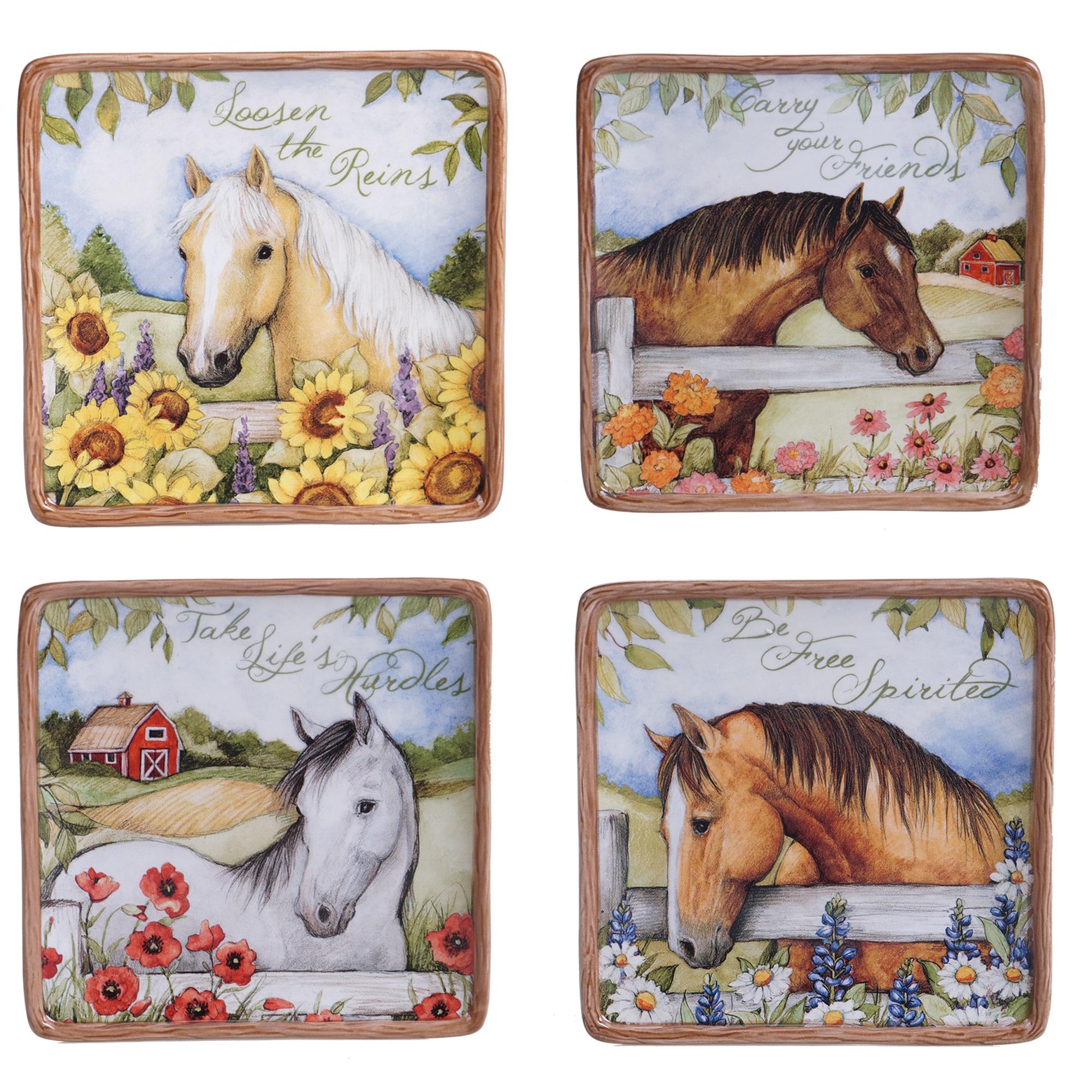Certified Intl Heartland Multicolored Ceramic 6-inch Cana...