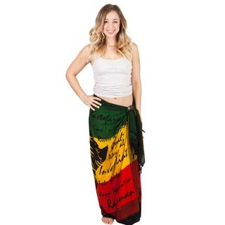 Women's Rasta Reggae Jah Lion Africa Cover Up Sarong (Indonesia)