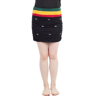 Handmade Women's Rasta Reggae Stretch Bodycon Skirt (Nepal)