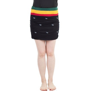 Handmade Women's Rasta Reggae Stretch Bodycon Skirt (Nepal)