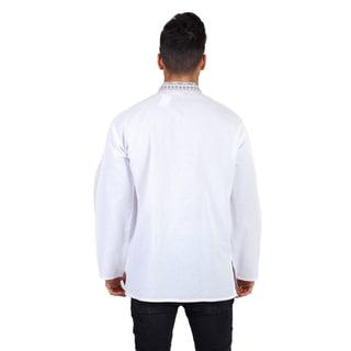 Men's Cotton Long Sleeve Banded Collar Kurta Shirt (Nepal)