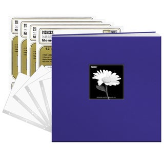 Pioneer Cobalt Blue Fabric Frame Cover 12x12 40 Pages (20 Sheets)